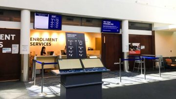 Signage Showcase: Enrolment Services